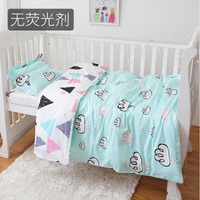 New Arrive Cloud Crib Bed Linen Kit,Nordic Style Baby Blanket Cotton Baby Bedding Set ,Duvet/Sheet/Pillow, with filling