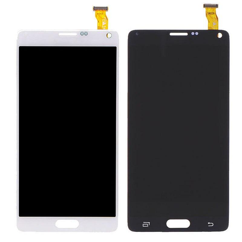 New Genuine LCD font b Screen b font For Samsung Galaxy Note 4 N9100 N910C N910A