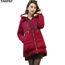 2017 Winter Jacket Women Cotton Padded Winter Coat Women Parkas Thick Warm Hooded Cotton Clothing Outerwear Plus size 5XL K680