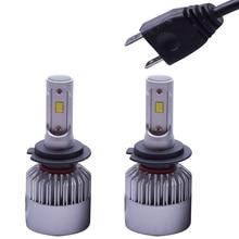 цена на S2 LED Bulb H1 H4 H3 H7 H8 H9 H11 HB3 9005 Hb4 9006 H13 Car Headlight Led Car Auto Headlight 12V 72W 8000lm CSP Lamp 2pcs / lot