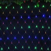 Colorful 2 2m 144 LED Net Light Red De La Lampara Christmas Lights Wedding Party Decoration