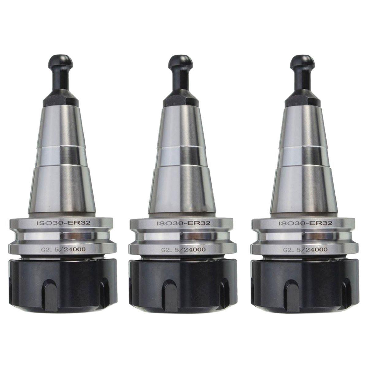 (Drop shipping) 3PCS metal ISO30 ER32 50 Balance Collet Chuck G2.5 24000rpm CNC Toolholder(Drop shipping) 3PCS metal ISO30 ER32 50 Balance Collet Chuck G2.5 24000rpm CNC Toolholder