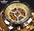 Winner Classic Transparent Full Golden Mens Watches Top Brand Luxury Men Sport Automatic Watch Skeleton Watch Clock Wrist Watch