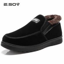 2017 Botas Hombre Men Winter Shoes Snow Winter Boots Warm Plush Ankle Boot Work Shoes Men's Outdoor Cotton Boots Black