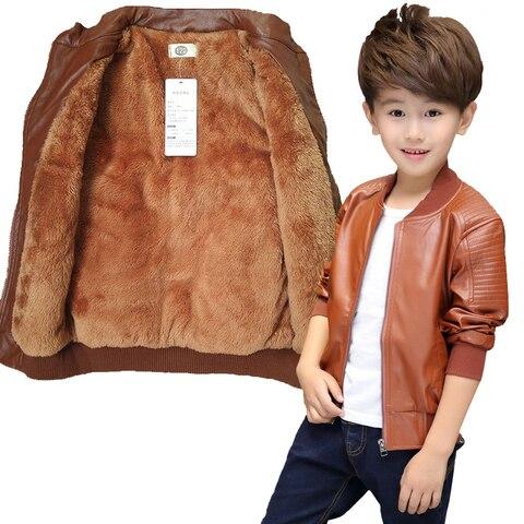 adolescente 2 14yrs bebe meninos jaqueta de couro