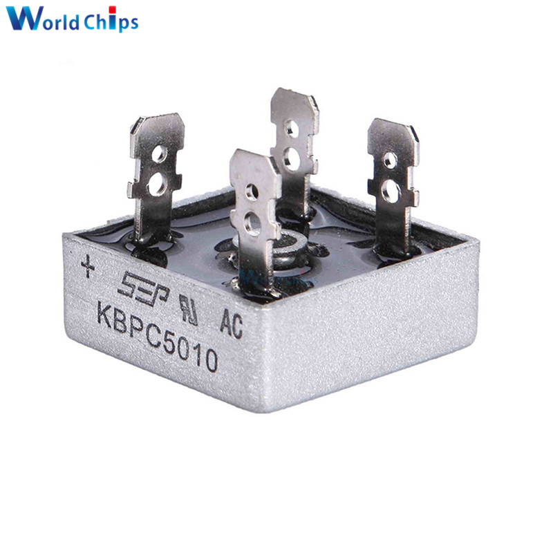 1PCS KBPC5010 50A 1000V Diode Bridge Rectifier Diode KBPC 5010 Power Rectifier Diode Electronic Componentes