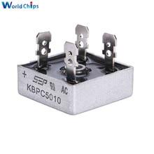 1 шт. KBPC5010 50A 1000 В диодный мостовой выпрямитель диод кбпц 5010 мощность выпрямитель диод электронные компоненты