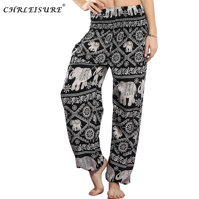 37607ea8d41a1 CHRLEISURE Autumn Harem Pants Women Plus Size Elephant Pant Beach Boho Pants  High Waist Bohemian Printed Trousers Women