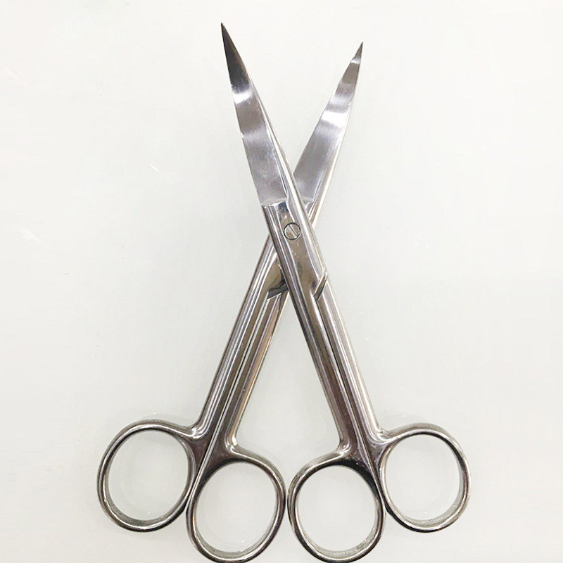 14cm Stainless Steel Surgical Bend Tip Household Scissors Beauty Tools YF2018