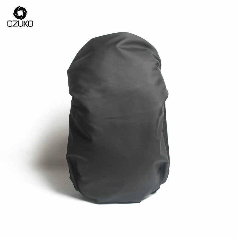 OZUKO Siyah Laptop Sırt Çantası Büyük Kapasiteli Su Geçirmez Rahat Erkekler Sırt Çantası Moda Unisex Kadın sırt çantası Seyahat Çantaları Yeni Okul Çantası