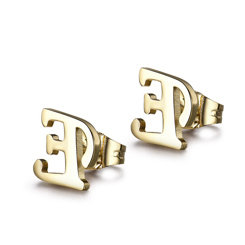 Huche Letter E Fashion Stainless Steel Jewelry Sets For Woman With Necklace And Stud Earrings Never Faded Hyjbt18a In From