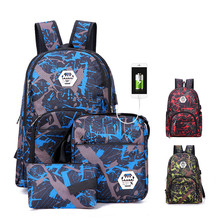 30L Ultralight Handy Travel Backpack Waterproof Outdoor Backpack Hiking Camping Travel Cycling Daypack 3-piece computer bag
