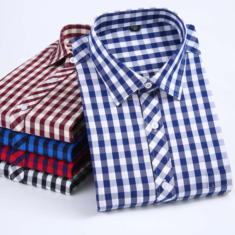 Casual Plaid Shirt 100%cotton Flannel Brand men high quality