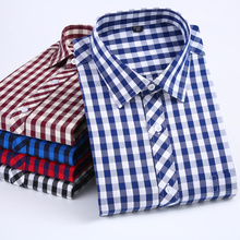 Aoliwen 2019 men Long Sleeve Casual Plaid Shirt Spring and Autumn Men Tops 100%cotton Flannel Brand high quality shirt