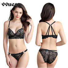 VVUES Sexy Bras For Women Push Up Bralette Seamless Bra Delicate Embroidery 2019 Lingerie Underwear Grils Sets
