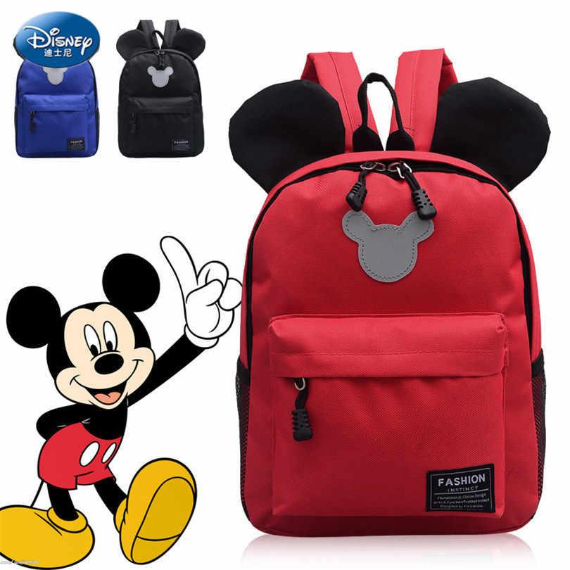 Disney Chuột Mickey Trẻ Em Schoolbag Junior Túi Nylon 2019 Bé Trai Cổ Điển Ba Lô Mickey Ba Lô Ba Lô Chống Thấm Nước SZZ179