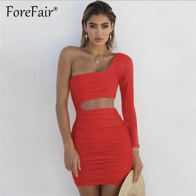 cc707f3659e Detail Feedback Questions about Forefair Long Sleeve One Shoulder ...