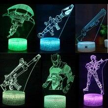 Fortnight Battle Royale игрушки ночной светодио дный светодиодный свет сна форт ночной пункт магазин проекционный светильник шрам RPG пистолет детские подарки