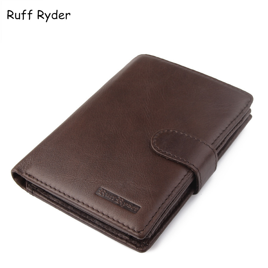 Ruff Ryder New Brand Men Genuine Leather Wallets Card Holder Luxury Purse Designer High Quality Business Wallet Dollar Price ms brand men wallets dollar price purse genuine leather wallet card holder designer vintage wallet high quality tw1602 3