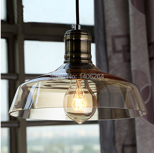 American Countryside Industrial Glass  pendent lamp Ceiling Light Hanging Ling For Cafe Bar Hall Club Store Restaurant Balcony s vintage loft crystal fixtures lamp light glass pendant lighting cafe bar hall club store restaurant balcony