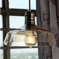American Countryside Industrial Glass  pendent lamp Ceiling Light Hanging Ling For Cafe Bar Hall Club Store Restaurant Balcony