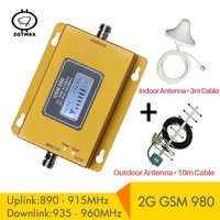 ZQTMAX 75dbi signal repeater gsm 900 for cellphone 2G mobile phone booster amplifier with Yagi antenna and cable