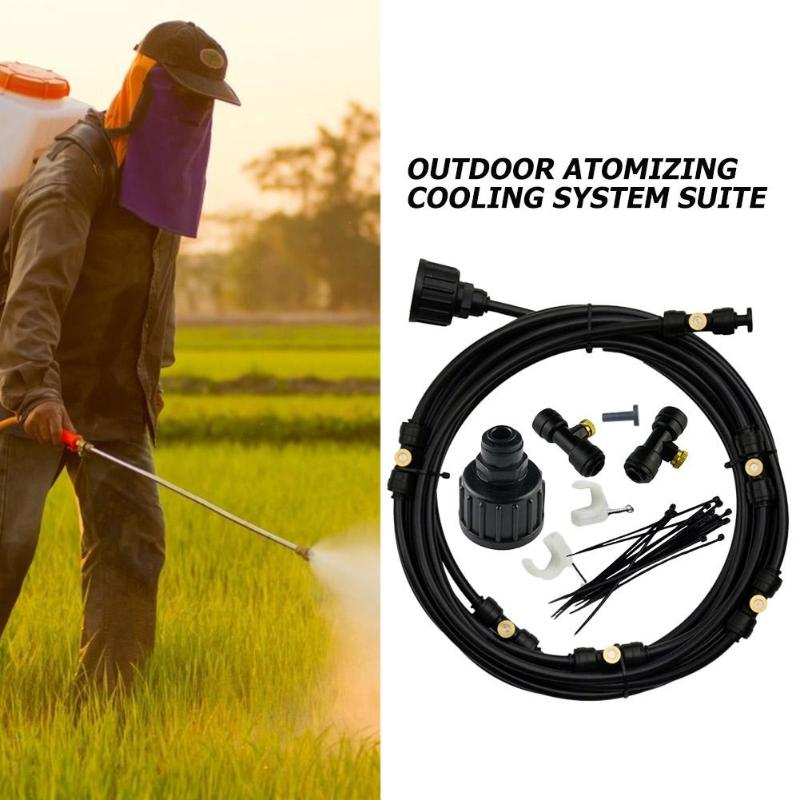6m 18m Outdoor Misting Cooling System Kit For Greenhouse Garden Patio Waterring Irrigation Mister Line Watering System