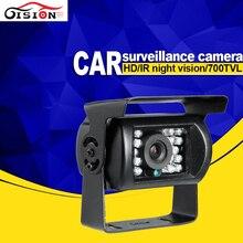 O Envio gratuito de 4 Pin 600TVL 700TVL SONY CCD IR Night Vision Waterproof Carro Rear View Reversa Backup Camera para Bus Truck Van