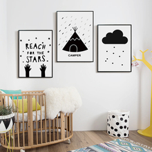 Bianche Wall Camping Adventure Black and White Simple A4 Canvas Painting Print Poster Picture Art Bedroom Home Decorative