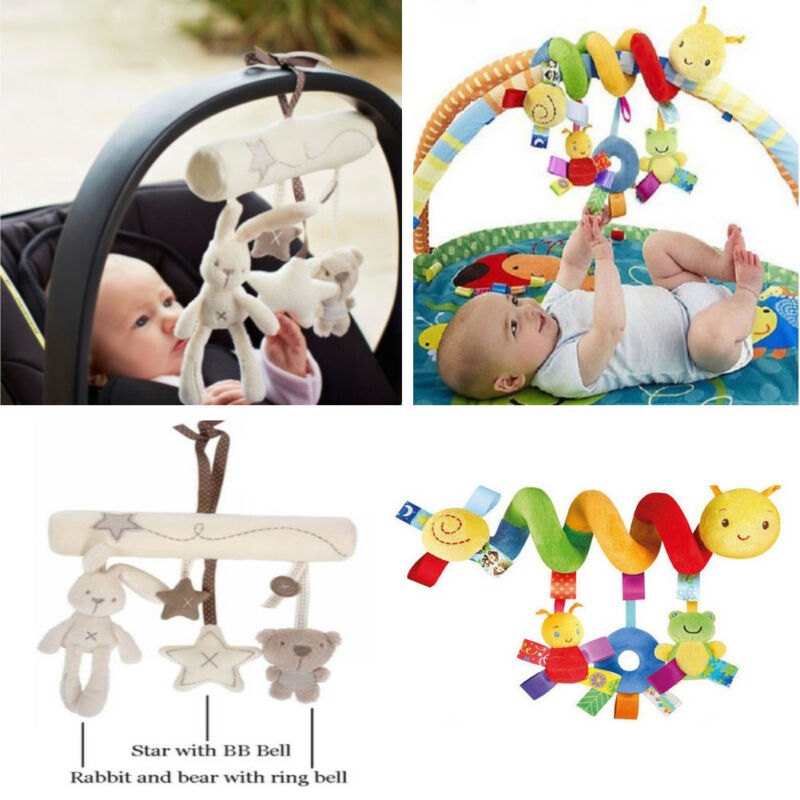 Baby Stroller Hanging Toys 2019 Cute Activity Spiral Crib Stroller Car Seat Travel Hanging Toy Animal Plush Rattles Toy Colorful