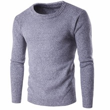 Sweater Men 2017 Brand Pullovers Casual Sweater Male O Collar Solid Simple Slim Fit Knitting Mens Sweaters Man Pullover Men S