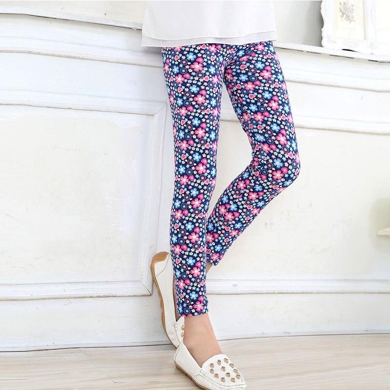 Girls Leggings Spring Baby Trousers Printing Soft Baby Girl Long Pants 2-14T Girls Clothes Print Leggings