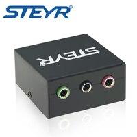 STEYR 5.1 Game Console Adapter Converteren Rca Pluggen Om Een Enkele 1/8 voor Microfoon, Headset