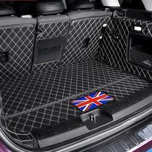 Auto stamm schutz matte Leder Pad auto styling zubehör Für BMW MINI ONE CooperS JCW F54 F55 F56 F60 R60 CLUBMAN COUNTRYMAN