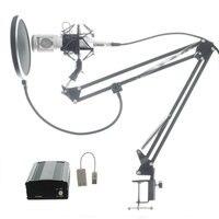 Full Set Microphone Professional BM800 Condenser KTV Microphone Pro Audio Studio Vocal Recording Mic Metal Shock