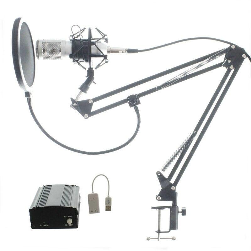 Micro complet professionnel BM800 condensateur KTV Microphone Pro Audio Studio enregistrement Vocal micro + support de choc en métal