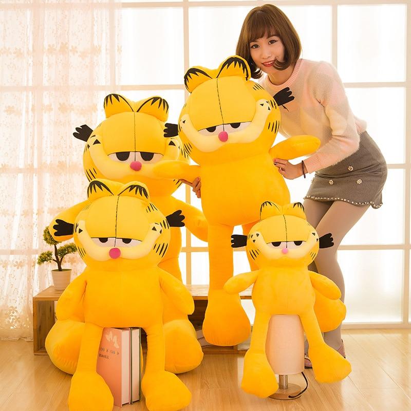 40cm/60cm/85cm Cartoon Plush Garfield Cat Plush Stuffed Toy High Quality Soft Plush Figure Doll Yellow Gift Girlfriend New Year