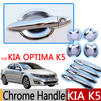 Hot Sale For KIA Optima K5 Chrome Exterior Door Handles Covers 2010 2011 2012 2013 2014 2015 Accessories Stickers Car Styling