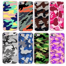 Army Camo Phone Cases For iPhone 7 Camouflage Pattern Coque X 8 plus 6 6s 5s se Capa Back Cover Luxury Silicone+TPU