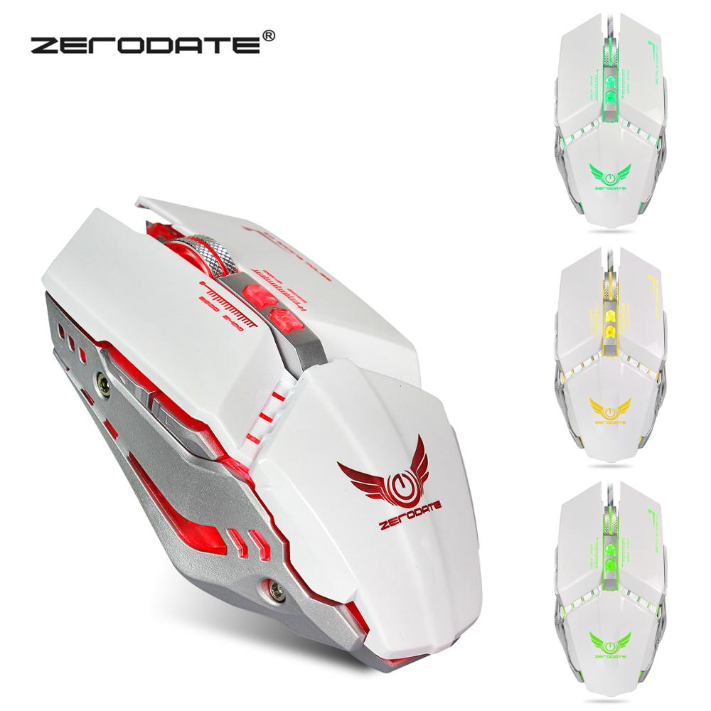 ZERODATE X700 Optical Mouse Usb Mechanical Gaming Mouse Full Key Macro Definition Wired Gaming Mouse Four Color Glare Mouse