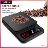 Yieryi 2019 Мини lcd Цифровые Электронные капельные кофейные весы с таймером 3 кг/5 кг/10 кг 0,1 г Вес бытовые капельные весы таймер