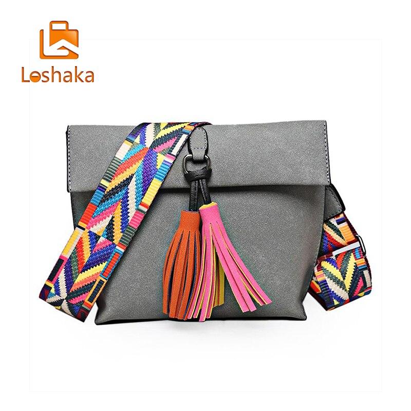 Loshaka naiste messikott Tassel Crossbody kotid tüdrukute - Käekotid - Foto 4