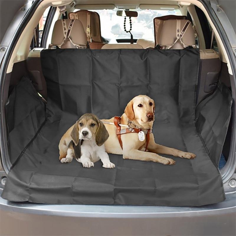 Dog Car Seat Cover Footprints Thick Pet Car Waterproof Mat Oxford Cloth Car Trunk Pad Dog Outdoor Car Mat