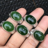 Gorgeous Jasper Mens Rings Solid 925 Sterling Silver Ring Fine Jewelry Solitaire Gems Bezel Setting White