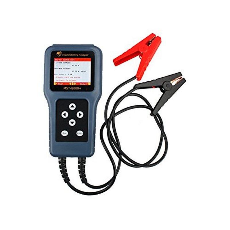 Image 2 - MST 8000 probador de batería de coche herramientas Multi idioma 12V 12V batería Auto herramienta de diagnóstico apoyo 12V Digital Analizador de bateríaMedidores de batería   -