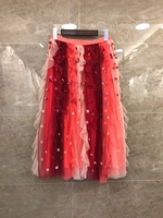 2019 Милая Новая модная женская одежда подходящая с блестками газовая юбка 318