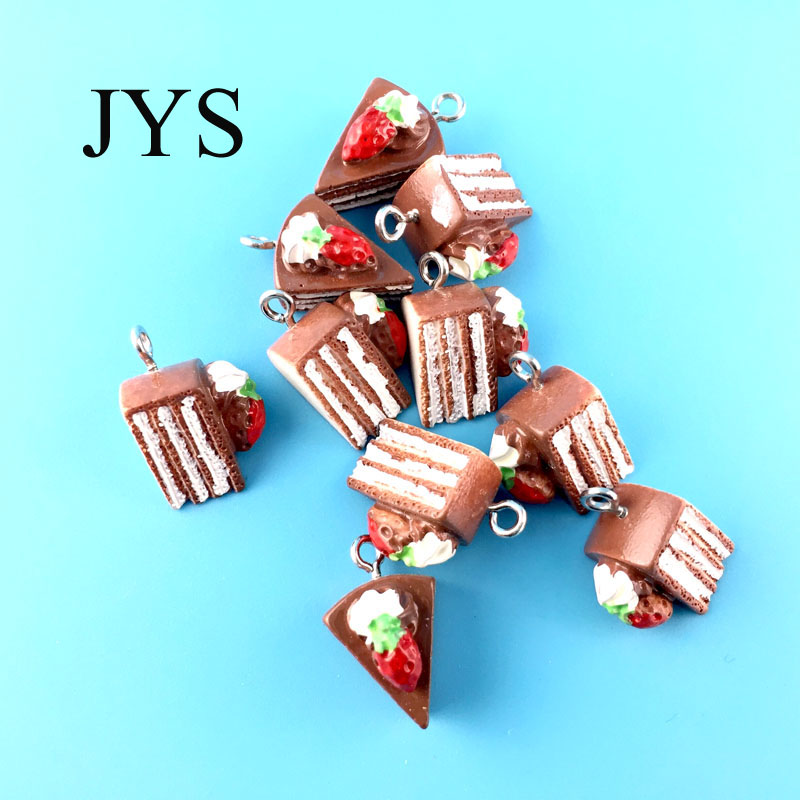 FREE SHIPPING 21MM 24PCS/LOT ACRYLIC CHARMS CAKE CHAMRS FOR JEWELRY FINDING FOR NECKLACE BRACELET