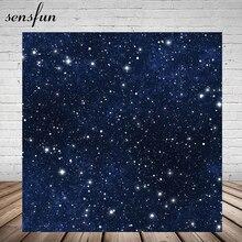 Sensfun brokat Little Stars noc tło dla Photo Studio ciemny niebieski niestandardowe tła 150cm x 220cm winylu