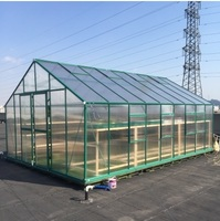 2 6m Width Cold Frame Greenhouse In Aluminum Frame And Polycarbonate Panels With Double Slide Door