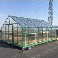 2,6 м ширина холодной рамки аппаратных парниковых газов в Алюминий Кронштейн рамы и поликарбонатных панелей с двойной слайд двери